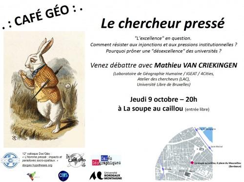Affiche Café Géo JG12