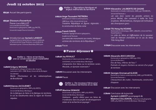 Programme JG13