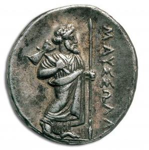 Figure 5 : Zeus Labraundos, monnaie d'Halicarnasse Source : SNG Cop. 590